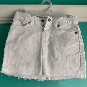 Kids Old Navy White Jean Skirt